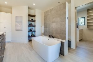 modern and updated bathroom