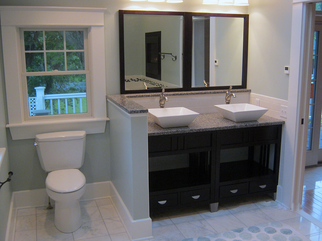 Kitchen Remodel With Double Sinks In Buffalo | Ivy Lea Construction Modern  Bathroom ...